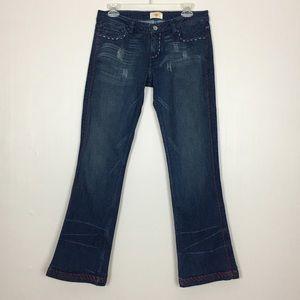 ANTIK DENIM Dark Wash Thick Stitch Jeans 28
